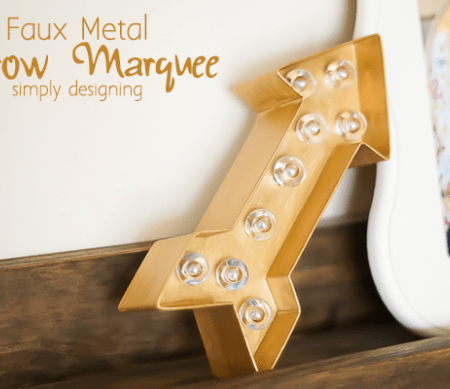 Faux Metal Arrow Marquee Featured Image