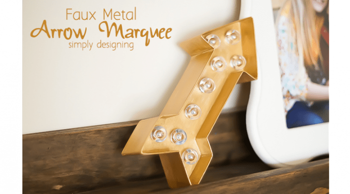 Faux Metal Arrow Marquee