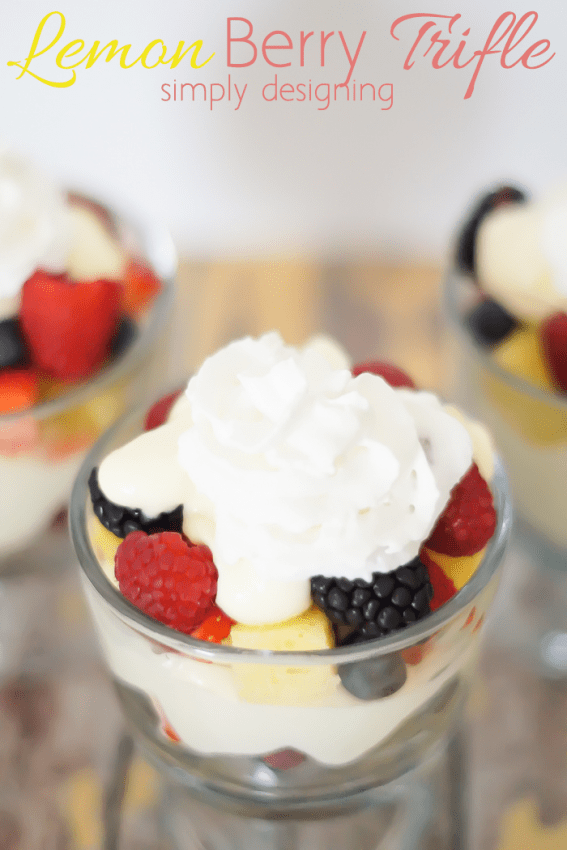 Lemon Berry Trifle - I love lemon and berries and this makes an incredible dessert