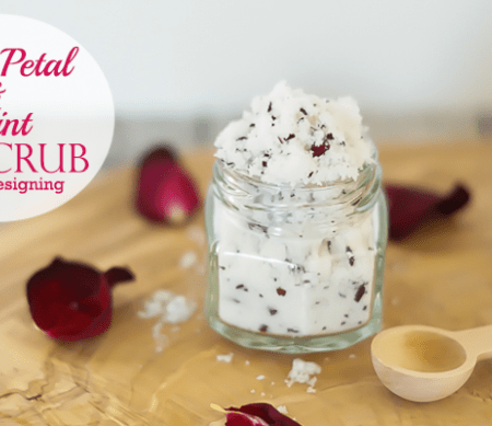 Rose Petal and Mint Lip Scrub - featured image