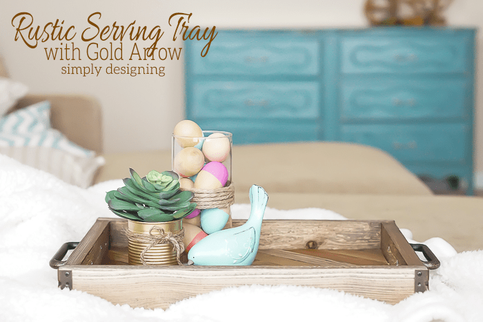 Gold Arrow Serving Tray