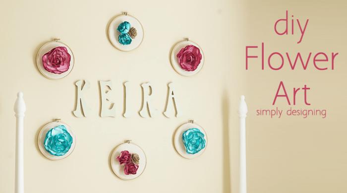 Diy Fabric Flower Wall Art : Diy flower wall art