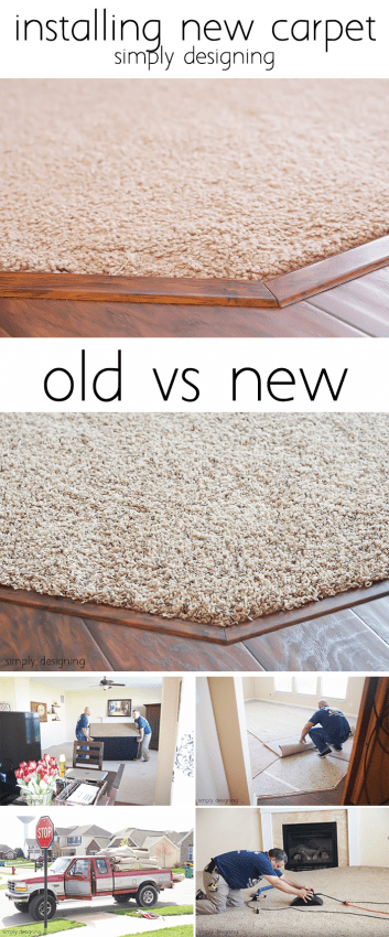 Installing New Carpet - Old vs New