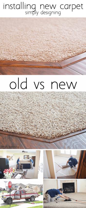 Installing New Carpet - Old vs New