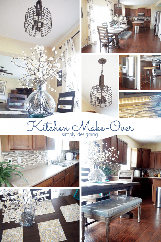 Kitchen Make-Over - this mini kitchen make over is totally doable and made such a huge impact on the space - you have to see it to believe it