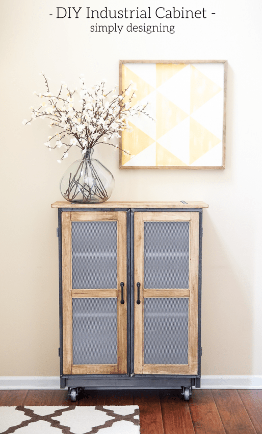 DIY Industrial Cabinet - this industrial cabinet is stunning and you will never believe that it is an IKEA hack