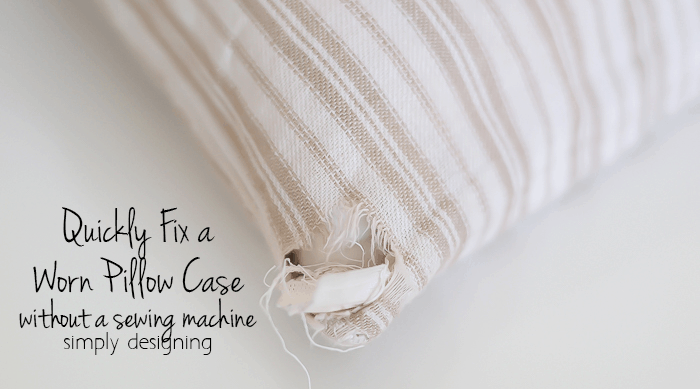 How to Quickly Fix a Pillow Case without a Sewing Machine