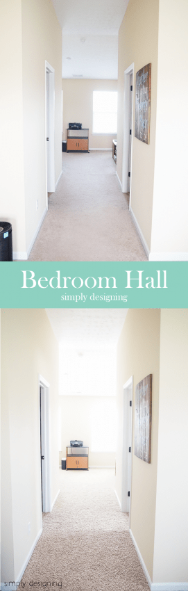 New Carpet - before & after - Hallway