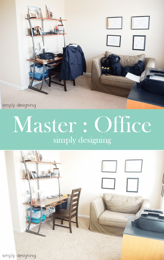New Carpet - before & after - Master Office