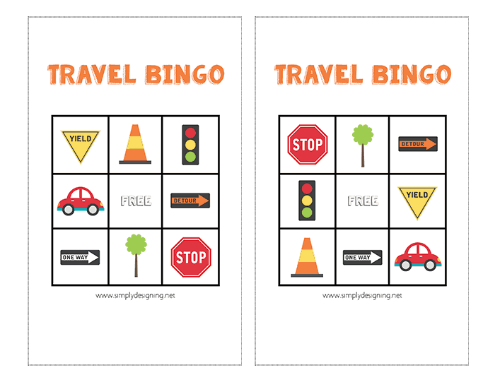 Travel Bingo Games For The Car