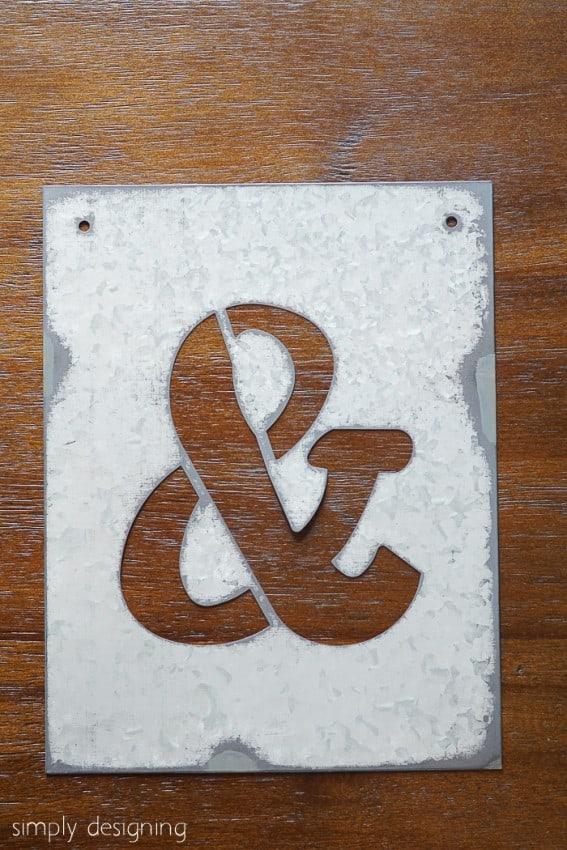 DIY Industrial Ampersand Decor