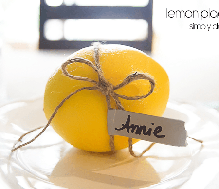 Lemon Place Holder with Twine and Washi Tape