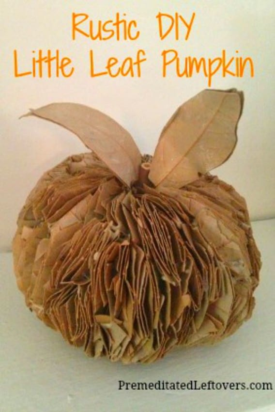Burlap Pumpkin Kids Craft
