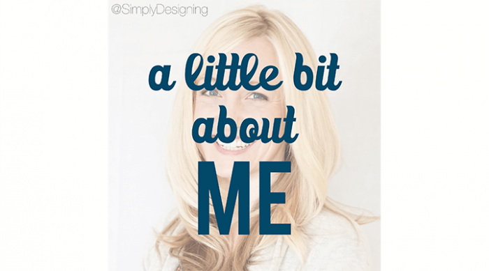 a little bit about Ashley from Simply Designing
