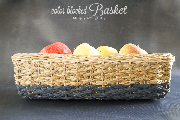Color Blocked Basket