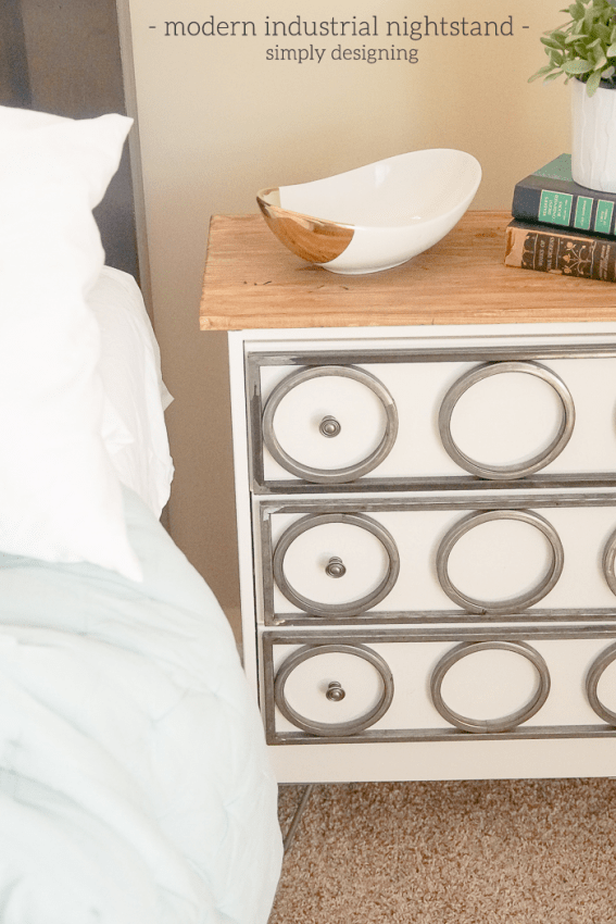 DIY Modern Industrial Nightstand