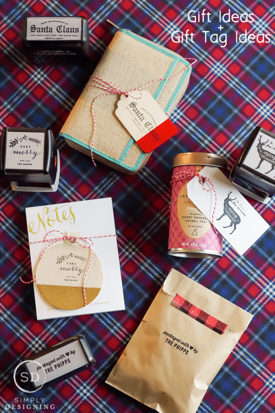 Simple gift ideas and gift tags for the holidays for Easy gift ideas