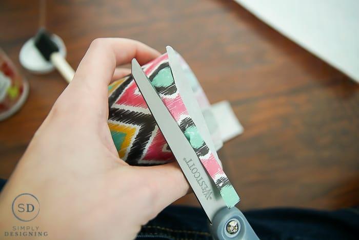 how to make Tribal Print Tins