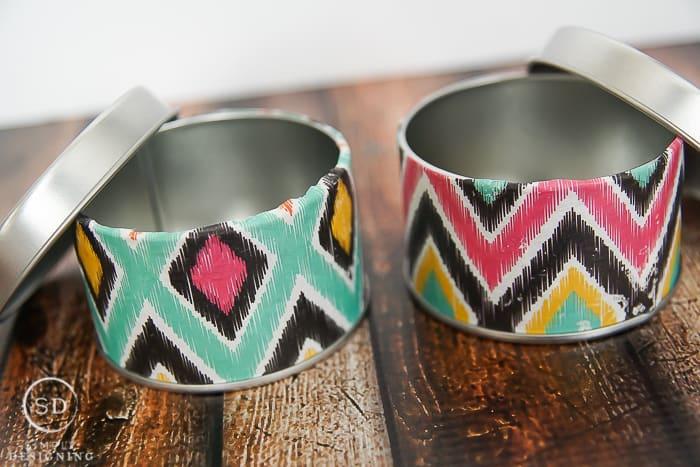 DIY Tribal Print Tins