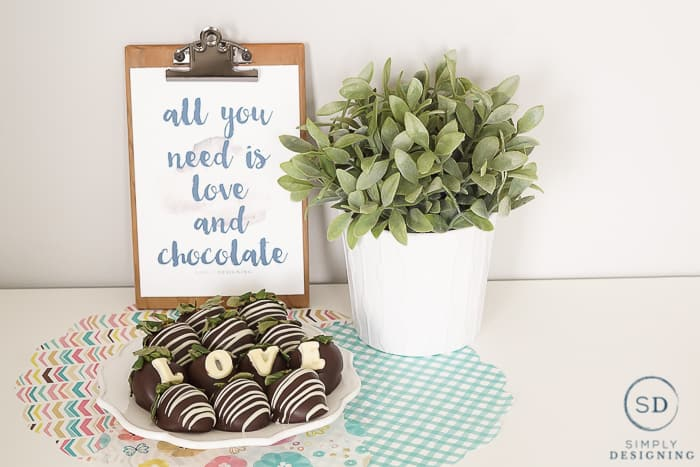 all you need is love and chocolate free printable