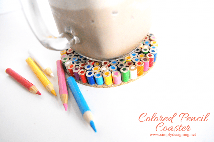 Colored Pencil Drink Coaster