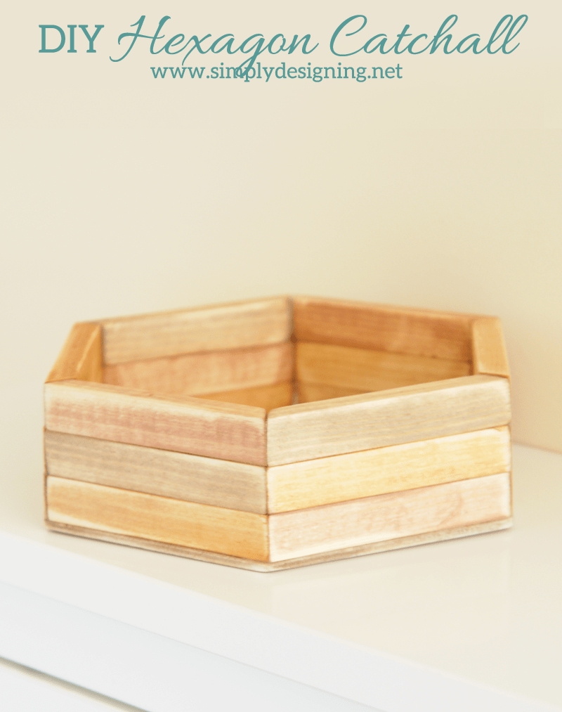 DIY Hexagon Catchall   click the photo to see how to create this really cool layered hexagon catchall