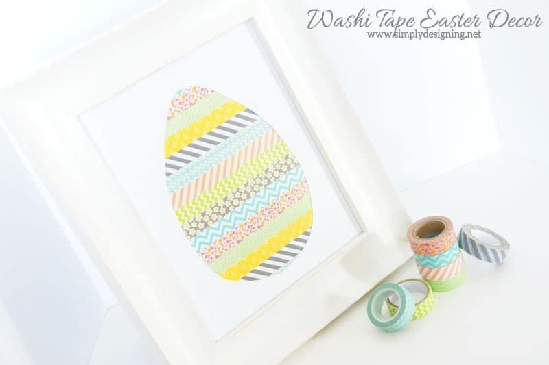 Washi Tape Easter Egg Decor | such a simple and fun Easter craft made with Washi tape | click the image to learn how to make it | #washitape #easter #eastercrafts #crafts