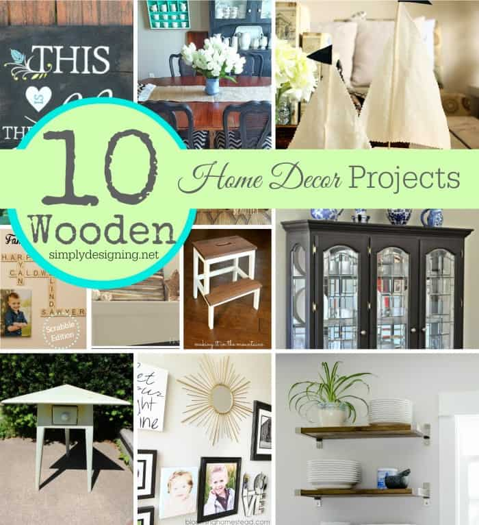 10 diy home decor projects made with wood for Home design diy ideas