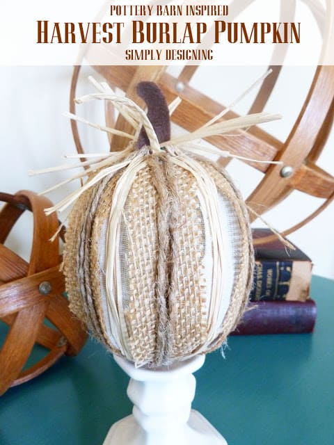 Harvest Burlap Pumpkin Pottery Barn Knock-Off