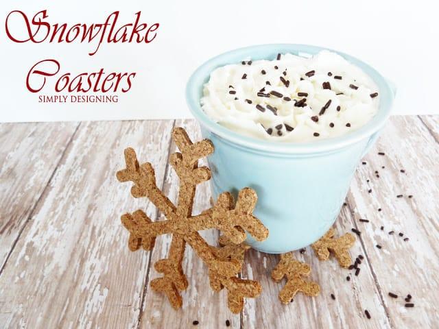 DIY Snowflake Coasters