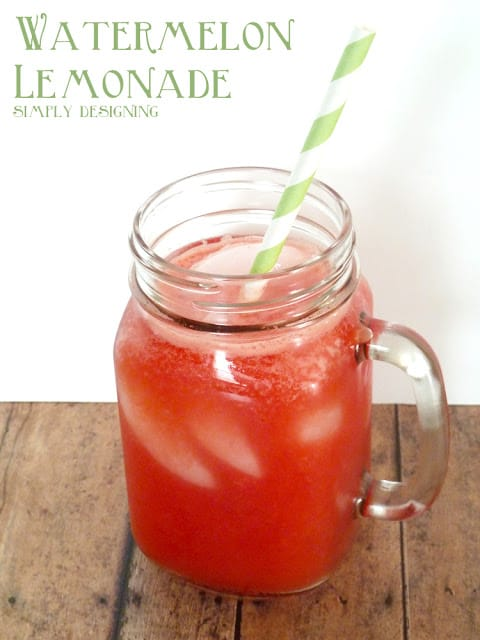 Fresh Watermelon Lemonade