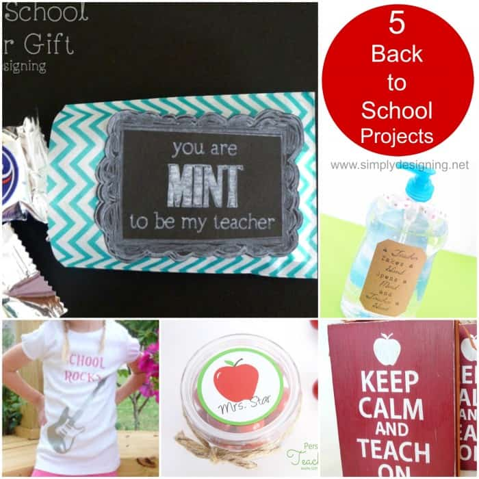 Back to School Projects made with a Silhouette