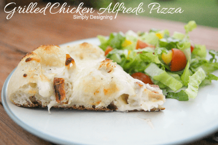 Grilled Chicken Alfredo Pizza