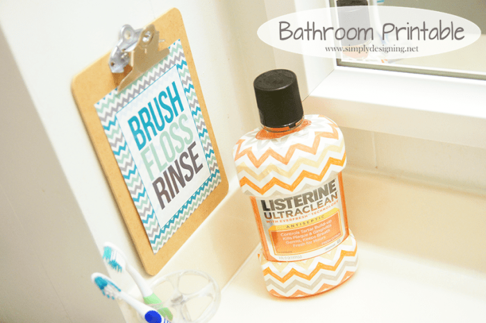 Kids Bathroom Printable