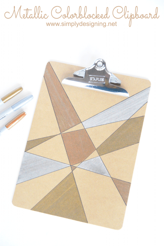 Metallic Colorblocked Clipboard