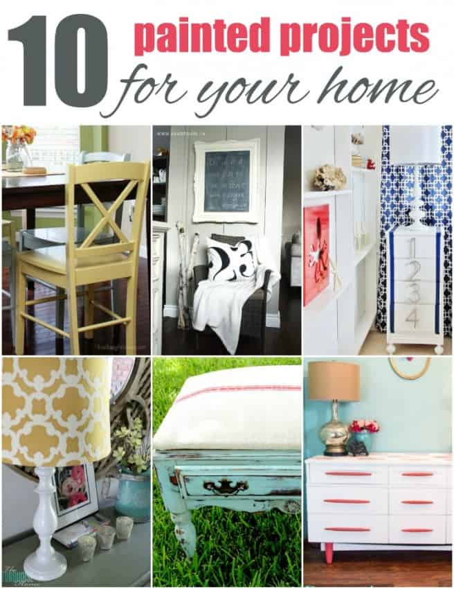 10 Painted Projects for your Home #painting #diy #crafts #homedecor