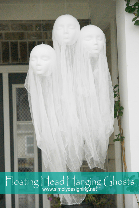 floating head hanging ghosts How to Make Hanging Ghosts - a PB Knock-Off 1 Hanging Ghosts