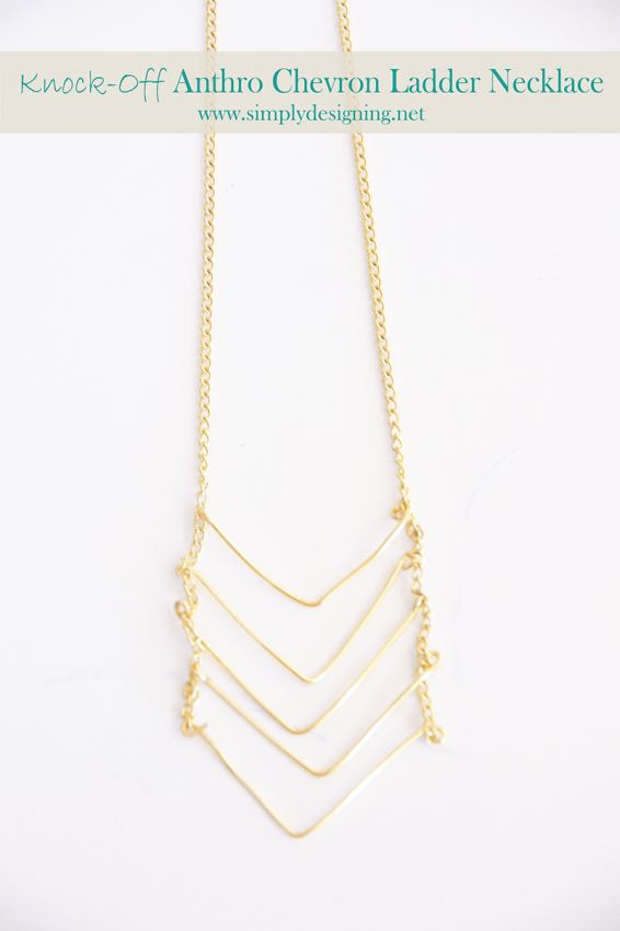knock-off anthro chevron necklace