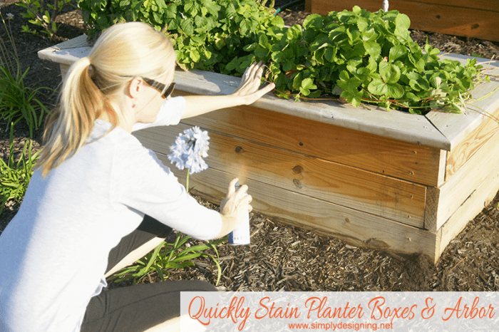 stain planter boxes