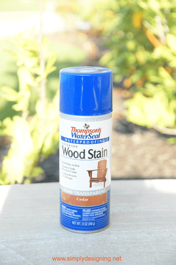 wood stain spray can