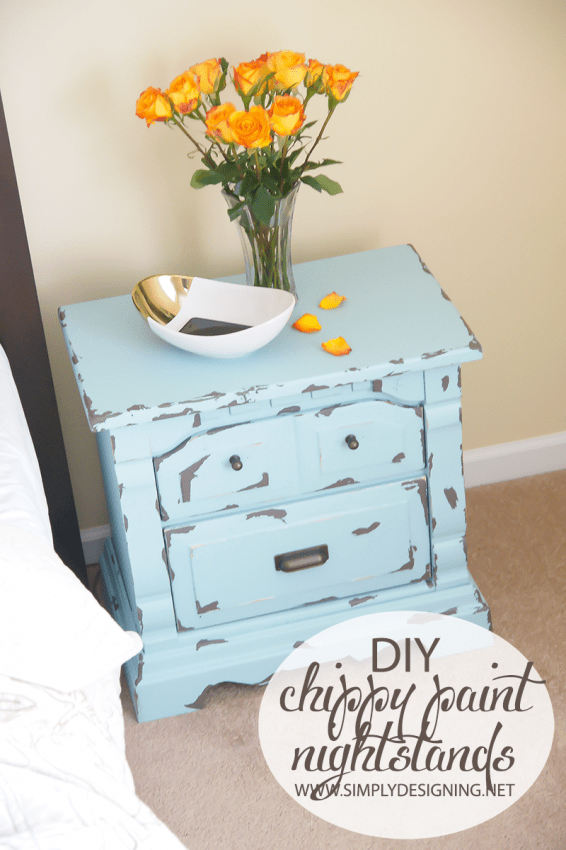 Blue Nightstands | #diy #paint #furniture