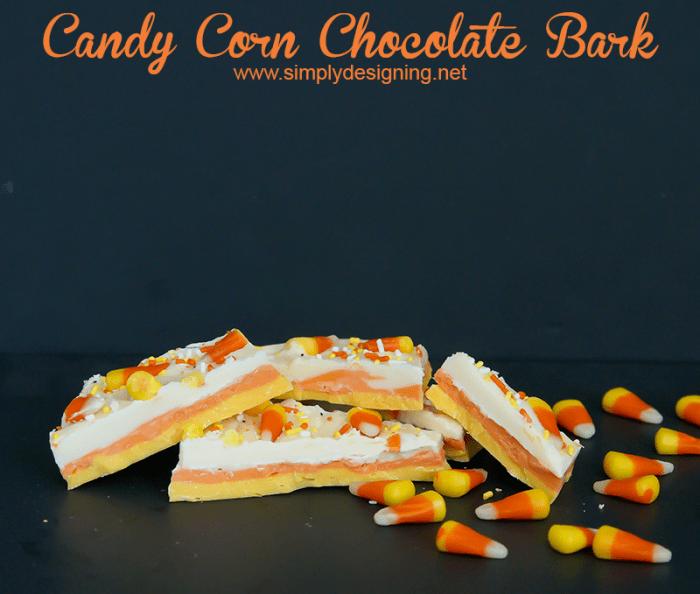 Candy Corn Chocolate Bark #halloween #recipes #fall