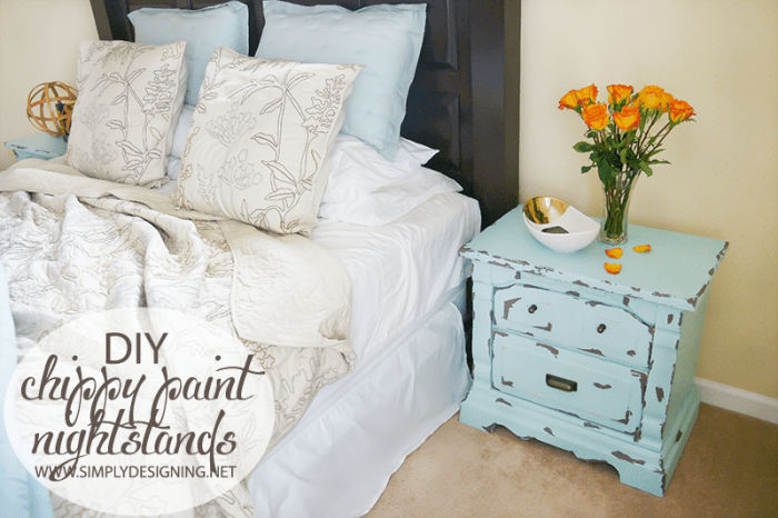 Chippy Paint Night Stand  | #diy #paint #furniture