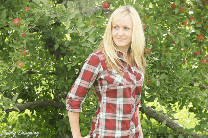Duluth flannel in apple orchard