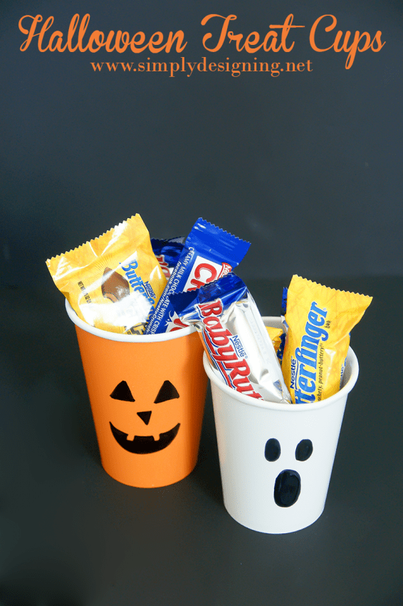 Halloween Treat Cups #halloween #fall #candy #crafts