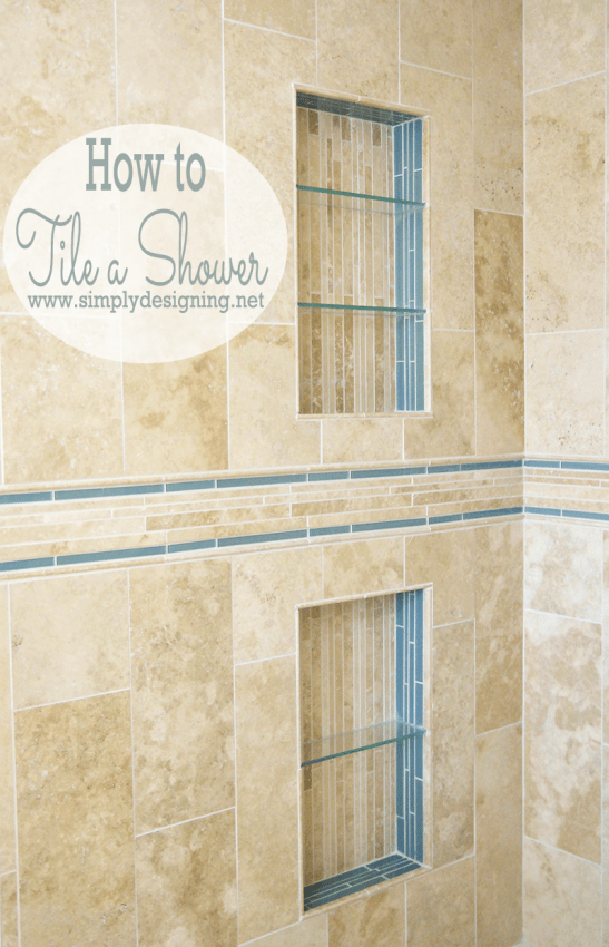 How to Tile a Shower Shelf View