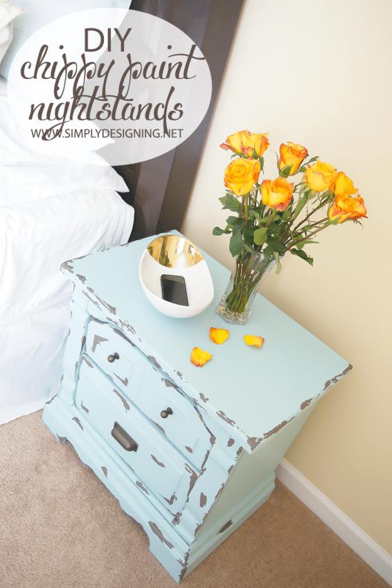 Pretty Nightstand | #diy #paint #furniture