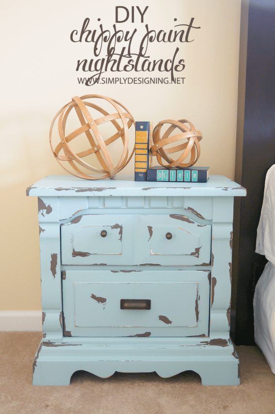 Turquoise Painted Nightstands | #diy #paint #furniture
