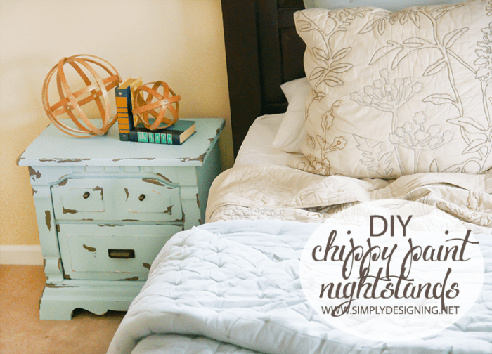 Painted Night Stands | #diy #paint #furniture