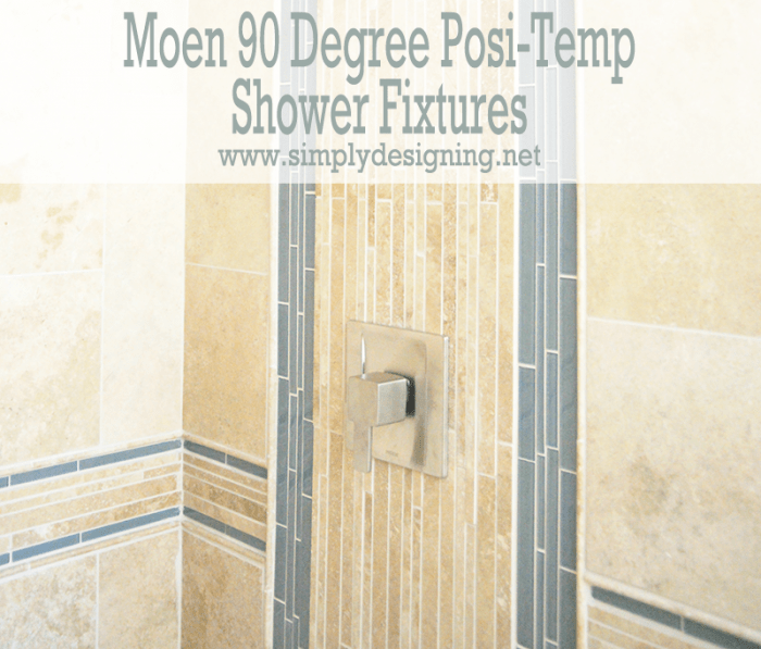Moen 90 Degree Posi-Temp Shower Fixtures | #diy #bathroom #remodel